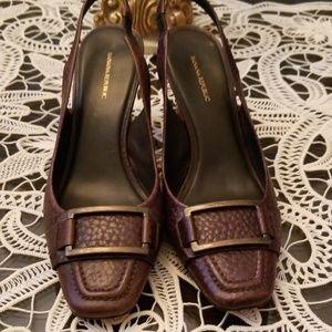 Banana Republic Brown Leather Closed toe sling bac